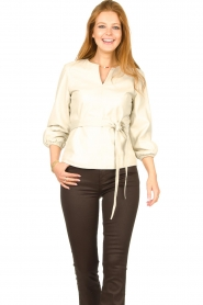 STUDIO AR    Leather top Blair   natural    Picture 4