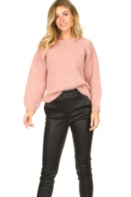 Knit-ted |  Knitted sweater Linda | pink  | Picture 2