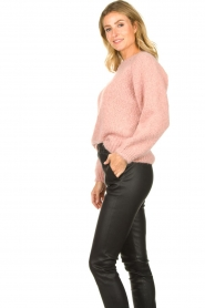 Knit-ted |  Knitted sweater Linda | pink  | Picture 3