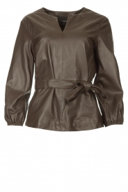 STUDIO AR |  Leather top Blair | brown  | Picture 1