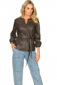 STUDIO AR |  Leather top Blair | brown  | Picture 4