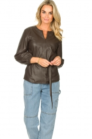 STUDIO AR |  Leather top Blair | brown  | Picture 2