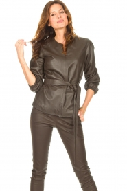 STUDIO AR |  Leather top Blair | brown  | Picture 5