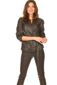 STUDIO AR |  Leather top Blair | brown  | Picture 6