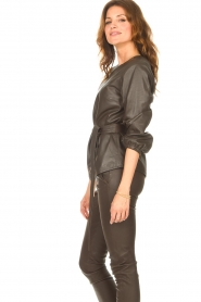 STUDIO AR |  Leather top Blair | brown  | Picture 7