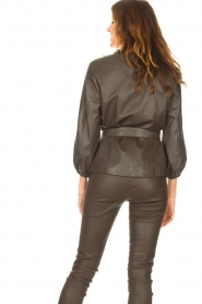 STUDIO AR |  Leather top Blair | brown  | Picture 8
