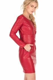 Patrizia Pepe |  Faux-leather dress Candice | red  | Picture 4