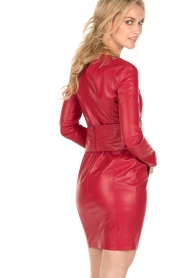 Patrizia Pepe |  Faux-leather dress Candice | red  | Picture 5