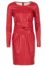 Patrizia Pepe |  Faux-leather dress Candice | red  | Picture 1