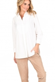 By Malene Birger | Blouse Jerana | wit  | Afbeelding 2
