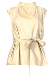 STUDIO AR |  Sleeveless leather top Sadie | natural  | Picture 1