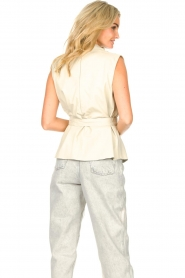 STUDIO AR |  Sleeveless leather top Sadie | natural  | Picture 6