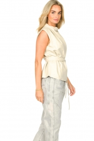 STUDIO AR |  Sleeveless leather top Sadie | natural  | Picture 5
