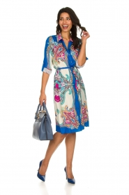 Hale Bob |  Printed dress Gruey | blue  | Picture 3