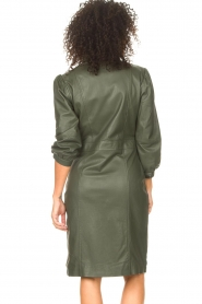 STUDIO AR |  Leather dress with puff sleeves Jamil  | green  | Picture 7