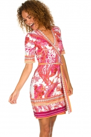 Hale Bob |  Wrap dress with floral print Coral | pink  | Picture 2