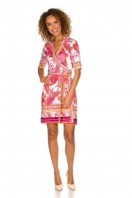 Hale Bob |  Wrap dress with floral print Coral | pink  | Picture 3