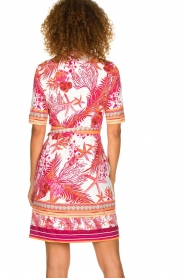 Hale Bob |  Wrap dress with floral print Coral | pink  | Picture 5