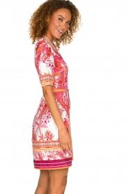 Hale Bob |  Wrap dress with floral print Coral | pink  | Picture 4