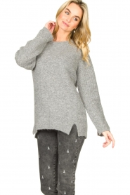 Knit-ted |  Knitted sweater Nila | grey  | Picture 4