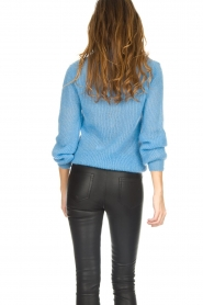 Knit-ted |  Sweater with V-neck Onah | blue  | Picture 5