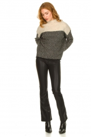 Knit-ted |  Faux leather flared pants Afke | black  | Picture 2