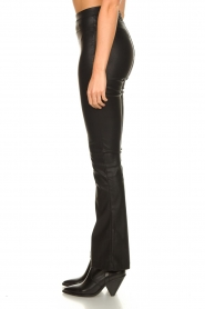 Knit-ted |  Faux leather flared pants Afke | black  | Picture 5