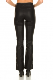 Knit-ted |  Faux leather flared pants Afke | black  | Picture 6