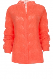 Knit-ted |  Knitted cardigan Avery | orange  | Picture 1
