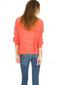 Knit-ted |  Knitted cardigan Avery | orange  | Picture 5
