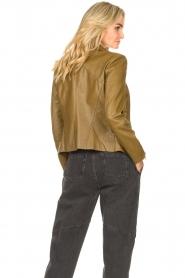 STUDIO AR |  Leather biker jacket Cherry | safari  | Picture 7