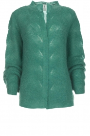 Knit-ted |  Knitted cardigan Avery | green  | Picture 1