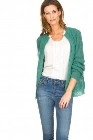 Knit-ted |  Knitted cardigan Avery | green  | Picture 2
