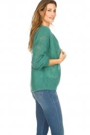 Knit-ted | Gebreid vest Avery | groen  | Afbeelding 5