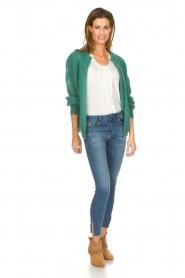 Knit-ted | Gebreid vest Avery | groen  | Afbeelding 3