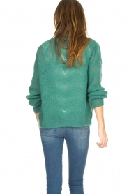 Knit-ted |  Knitted cardigan Avery | green  | Picture 6