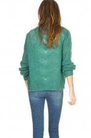 Knit-ted | Gebreid vest Avery | groen  | Afbeelding 6