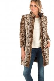 Patrizia Pepe | Faux fur reversible luipaardjas Duvet | luipaardprint  | Afbeelding 2