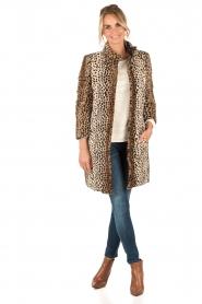 Patrizia Pepe | Faux fur reversible luipaardjas Duvet | luipaardprint  | Afbeelding 3