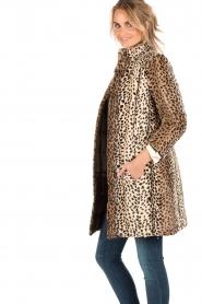 Patrizia Pepe | Faux fur reversible luipaardjas Duvet | luipaardprint  | Afbeelding 4