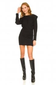IRO |  Dress with shoulder details Beckett | black  | Picture 3