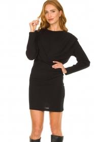 IRO |  Dress with shoulder details Beckett | black  | Picture 5