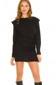IRO |  Dress with shoulder details Beckett | black  | Picture 2