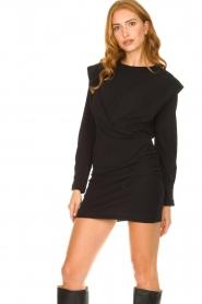 IRO |  Dress with shoulder details Beckett | black  | Picture 4