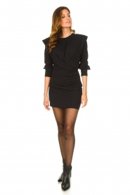 IRO |  Dress with shoulder details Beckett | black  | Picture 3