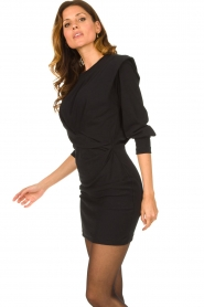 IRO |  Dress with shoulder details Beckett | black  | Picture 5