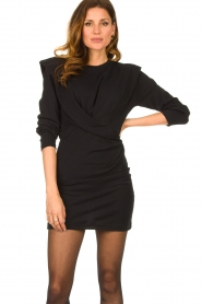 IRO |  Dress with shoulder details Beckett | black  | Picture 4