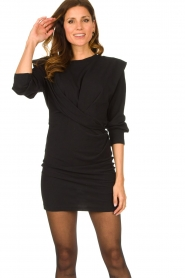 IRO |  Dress with shoulder details Beckett | black  | Picture 2