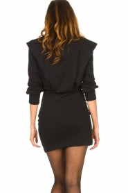 IRO |  Dress with shoulder details Beckett | black  | Picture 7