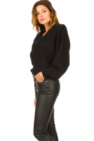 IRO |  Sweater with shoulder pads Misty | black  | Picture 5